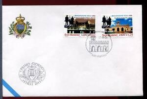 32825) San Marino 2001 FDC' Uff. 'Emigration IN USA