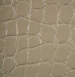 83 sf 2.5 oz. Gray  Alligator Croc Print Leather Hide Skin ka5bC D
