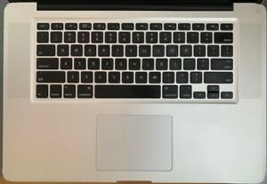 """Apple MacBook Pro 15"""" Late 2011 Top Case Housing with Keyboard 661-6076 -Used"""