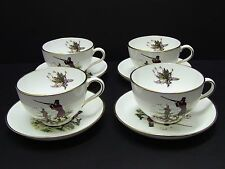 Hammersley Duck Hunting Scene Oversized Cups and Saucers / Set of 4