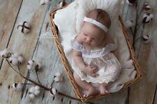 newborn dress set for twins headband silk bow newborn photography photo prop