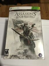 ASSASSIN'S CREED III 3 Limited Edition Game Collectors Box Set XBOX 360 MIB