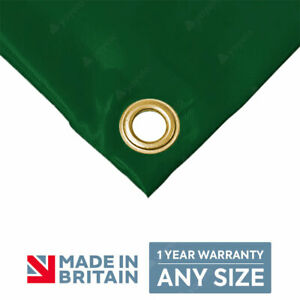 GREEN Heavy Duty 610gsm PVC Tarpaulin Polyester Reinforced Tarp Made To Measure✅