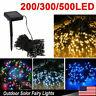 100 200 500 LED Solar String Fairy Light Garden Christmas Outdoor Party Decor