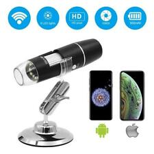 IPhone Android Wireless Digital Zoom Pocket Handheld Microscope LED Lights Fits
