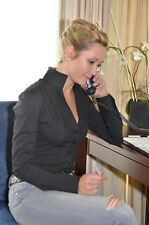 Blusenbody, Bodybluse, Bluse in schwarz, Shirt, Hemd, Gr.38