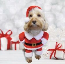 """Rosewood Dog Christmas Santa Claus Outfit Puppy XSmall 13cm 5.1"""" Costume FrontUK"""