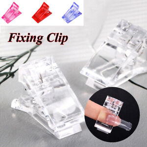 5/10PCS Nail Tips Clip Clamps For Poly Gel Quick Building Extension Builder Tool