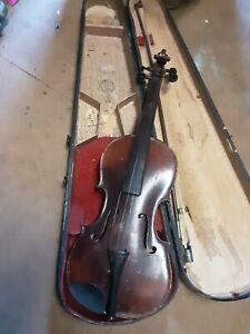 Antique Stainer Violin With GSB Case, Both Needs Work GSB Original Improved Case