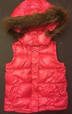 NWOT BABY GAP HOODED VEST FAUX FUR TRIM TODDLER GIRLS 5T 5 YEARS PINK HOLIDAY