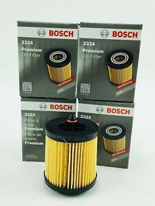 Lot of 4 New Genuine Bosch 3324 - Premium Cartridge Engine Oil Filter w/ O-Ring