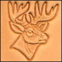 3D RIGHT FACE DEER HEAD LEATHER STAMP 88341-00 Tandy Stamping Tool Stamps Tools