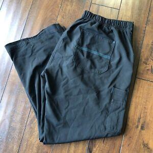 Carhartt Cross Flex Utility Scrub Pants Black Women's Petite Large, Poly & Spand
