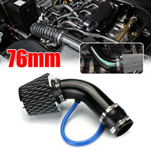 "3"" Car Universal Cold Air Intake Filter Induction Pipe Power Flow Hose System"