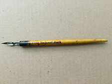 Vintage Solid Wood Dip Pen Resterbrook Nib First National Bank USA California