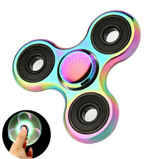 Kids/Adults Rainbow Alloy EDC Hand Fidget Spinner Copper Ball Focus Spielzeug