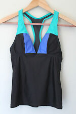 NEW! Oakley Women's Athletic Tri Top Triathlon Running Black Blue Tank XS $79
