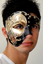Phantom of the Opera Masquerade Mask ITALIAN Made Silver OVERNIGHT Metro Del