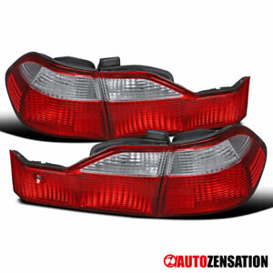 For 1998-2000 Honda Accord Sedan Red/Clear Tail Lights Lamps Left+Right 1999