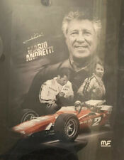 MARIO ANDRETTI Signed 18x24 Poster Autographed Indianapolis 500 Winner