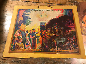 Watchtower 1942 Calendar Jehovah's Witnesses CALENDAR SPECTACULAR Picture!!!
