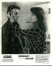 """1989 Press Photo Gary Cole and Meg Foster in """"Midnight Caller"""" - syp13997"""