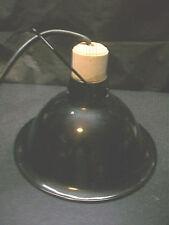 "9"" DOME REPTILE LAMP FIXTURE W CERAMIC SOCKET & 60W 120V HEAT EMITTER INCUBATOR"