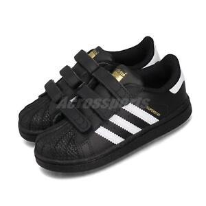 adidas Originals Superstar CF I Black White Classic Toddler Baby Shoes BZ0419