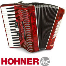 Hohner Hohnica 1305 34 Key 5 Switch Piano Accordion - Red + Gig Bag and Straps