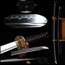 Japanese Samurai Sword Katana Tang Sword High Carbon Steel Wood Sheath #3797