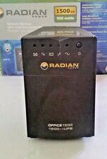 Battery backup UPS (Uninterrupted power supply ) Radian Office 1500VA UPS