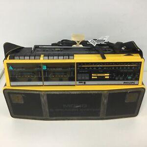 Vintage Magnavox D8300 Dual Deck Stereo Radio Big Boombox MDHQ #209