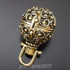 18pcs zinc alloy silver//bronze globe charms 21mm 1A827