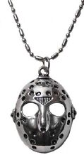 "Friday the 13th Jason's Hockey Mask Pendant Necklace with 20"" Chain"