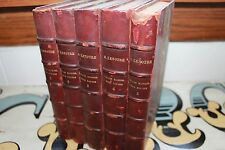 G. Lenotre- Vieilles Maisons, Vieux Papiers- 5 Vol set (1923) Leather