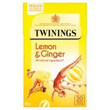 Twinings Lemon & Ginger Tea Bags-All Natural-Quantity 80 (4 x 20 Packs)