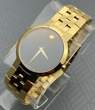 Swiss Movado Faceto Classic,18K Gold Plated  S. Steel Men's Model # 0605044