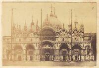 San Marc Façade Venezia Italia Vintage Albumina 5,7x8,3cm Ca 1865