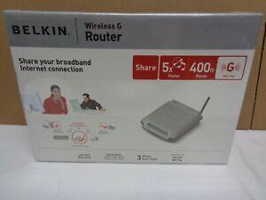NIB Belkin Wireless G 400 Ft Range Internet Connect Router F5D7230-4