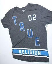 New True Religion Men Logo Gray    Shirt XXLarge 2XL XXL