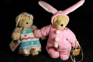 NABCO 1993 1989 Muffy Vanderbear EGG PAINTING WALKING + PINK BUNNY Easter Set