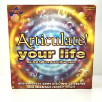 ARTICULATE YOUR LIFE Family Board Game - The Fast Talking Board Game - MINT!