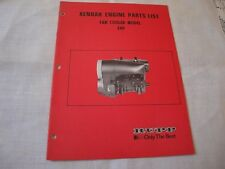 Vintage Rupp Xenoah Engine Parts List Can Cooled Model 340 P/N 39141