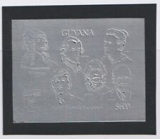 Guyana - 1992 Chess Mozart Einstein Durer Harris Proof card silver