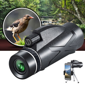 80x100 Zoom HD Monocular Starscope W/ Night Vision Telescope BAK4 Optics +Tripod