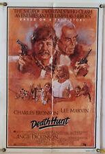 DEATH HUNT FF ORIG 1SH MOVIE POSTER LEE MARVIN CHARLES BRONSON ACTION (1981)