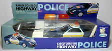 WAVECON VTG 90's HIGHWAY POLICE CAR WITH SIREN 1:15 11'' R/C UNUSED NEEDS REPAIR