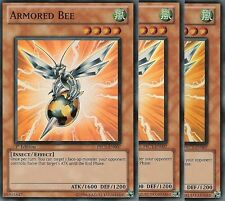 3 X YU-GI-OH: ARMORED BEE - SUPER RARE - PRC1-EN007 - 1st EDITION