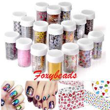 12pcs Galaxy Nail Art Transfer Foil Nail Sticker Tip Decal Decoration Colors