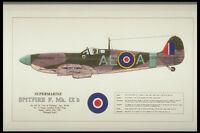 419063 Supermarine Spitfire F Mk IX B A4 Photo Print